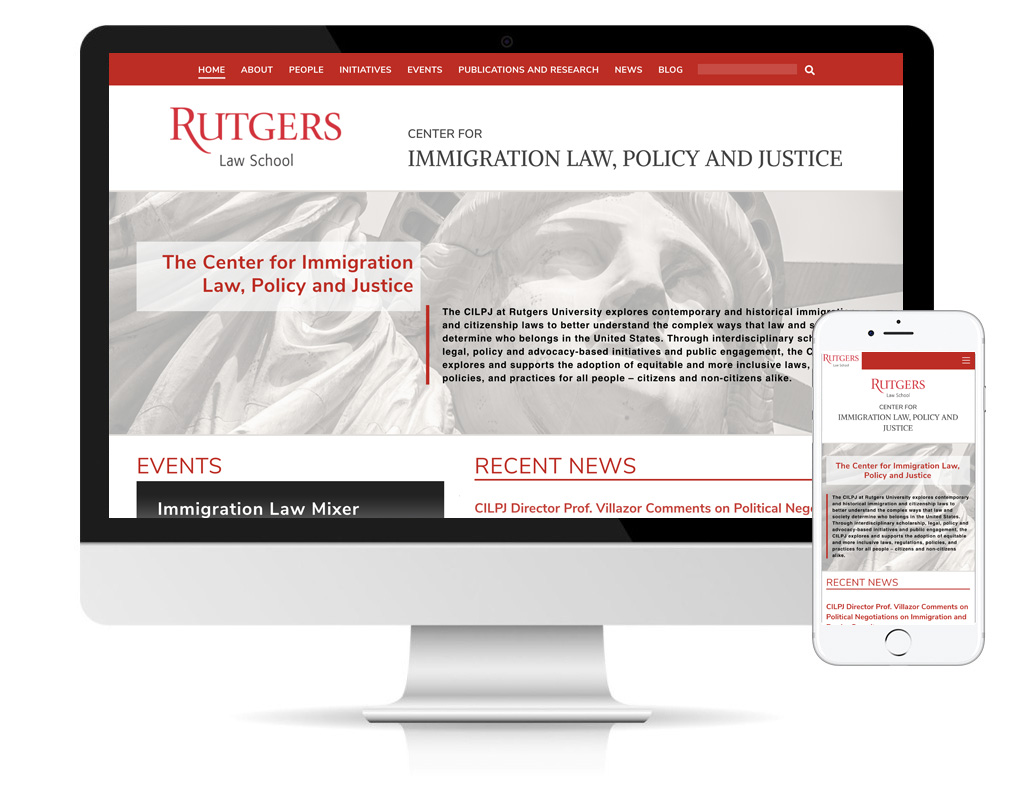 Rutgers Law School Center for Immigration website by DLS Design