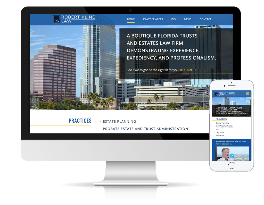 Robert Kline Law website