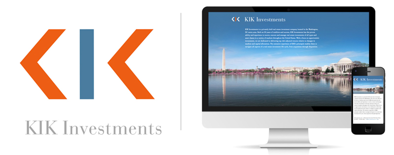 KIK Investments Logo and Website design by DLS Design