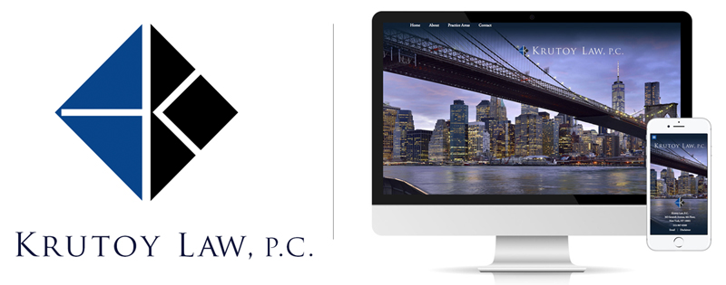 Krutoy Law Firm logo and website by DLS Design