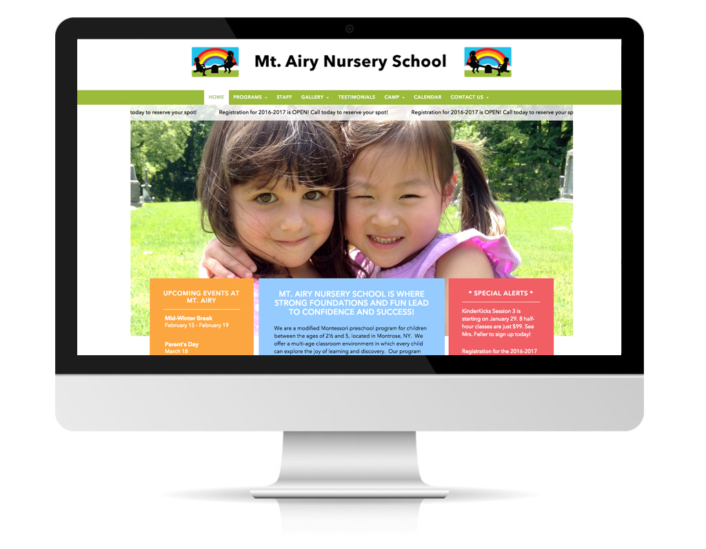 Mount Airy School website by DLS Design