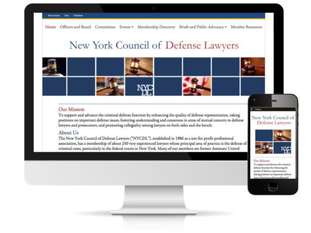 New York Council of Defense Lawyers website by DLS Design