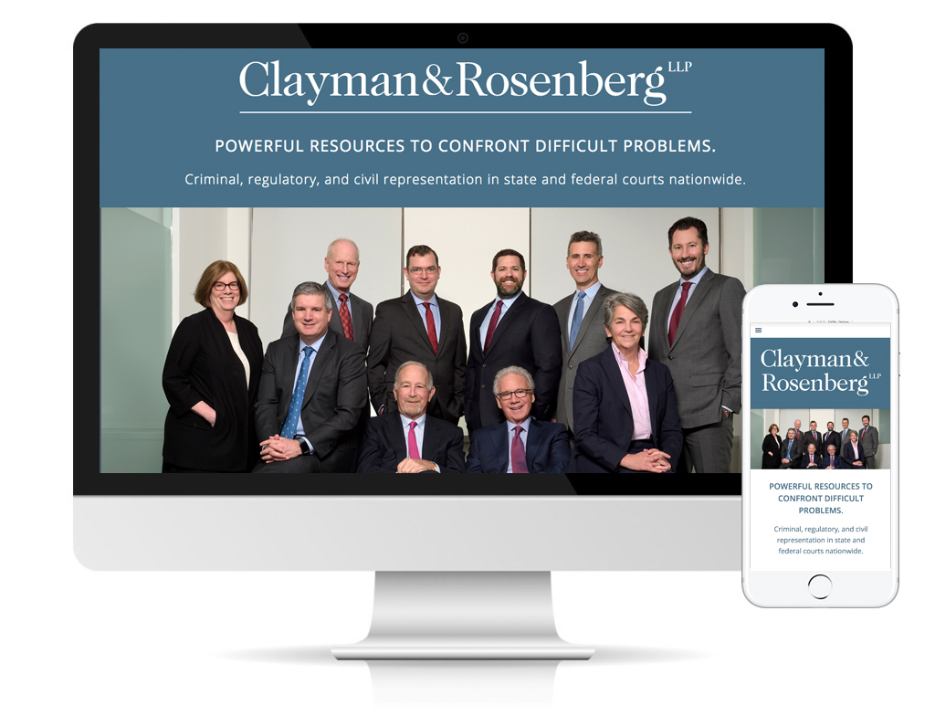 Clayman & Rosenberg website designed by DLS Design, New York