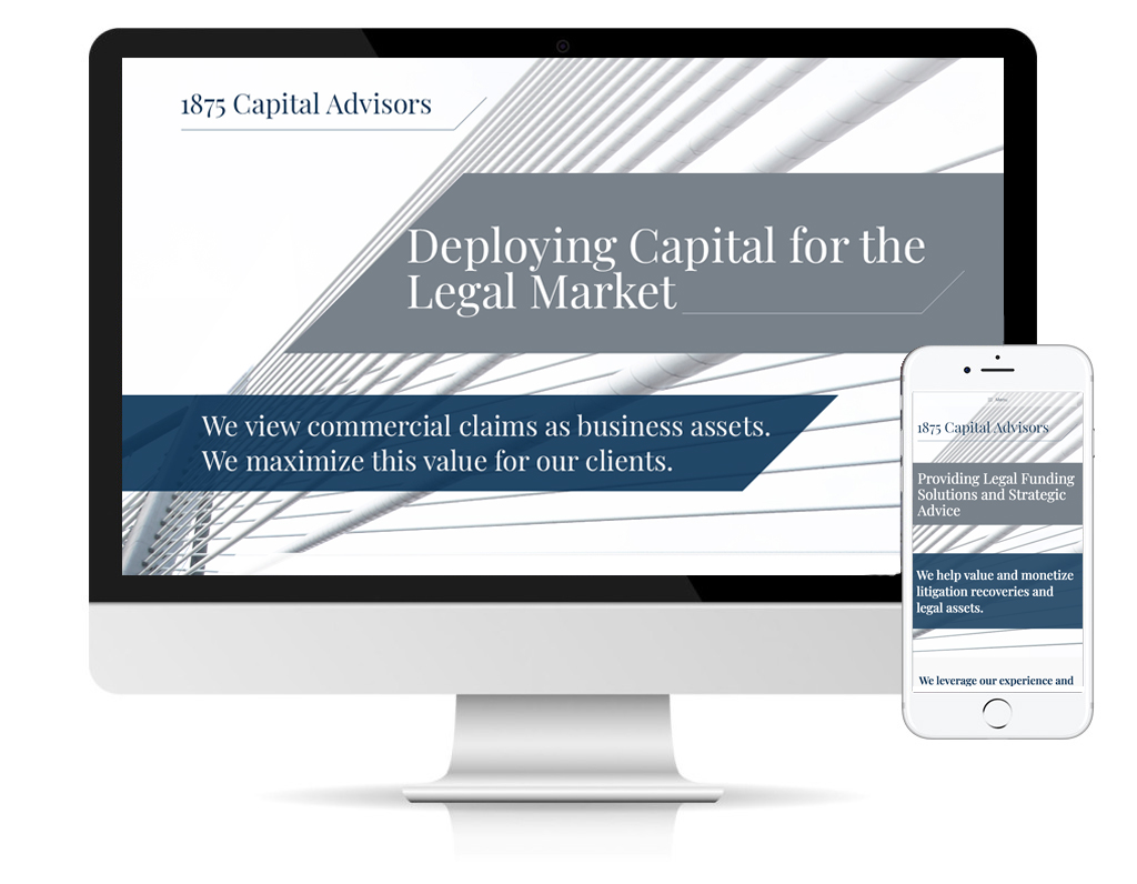 1875 Capital Advisors website by DLS Design