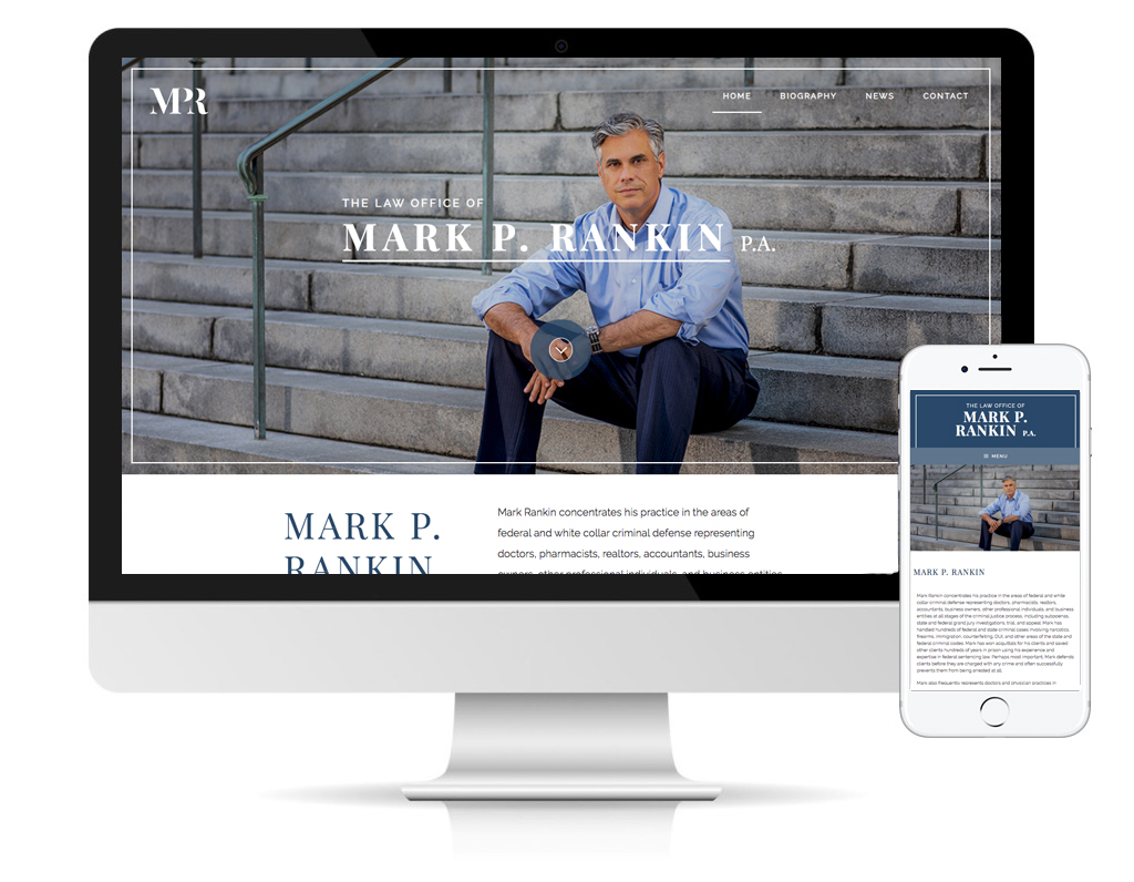 Law Office of Mark P. Rankin, website design by DLS Design