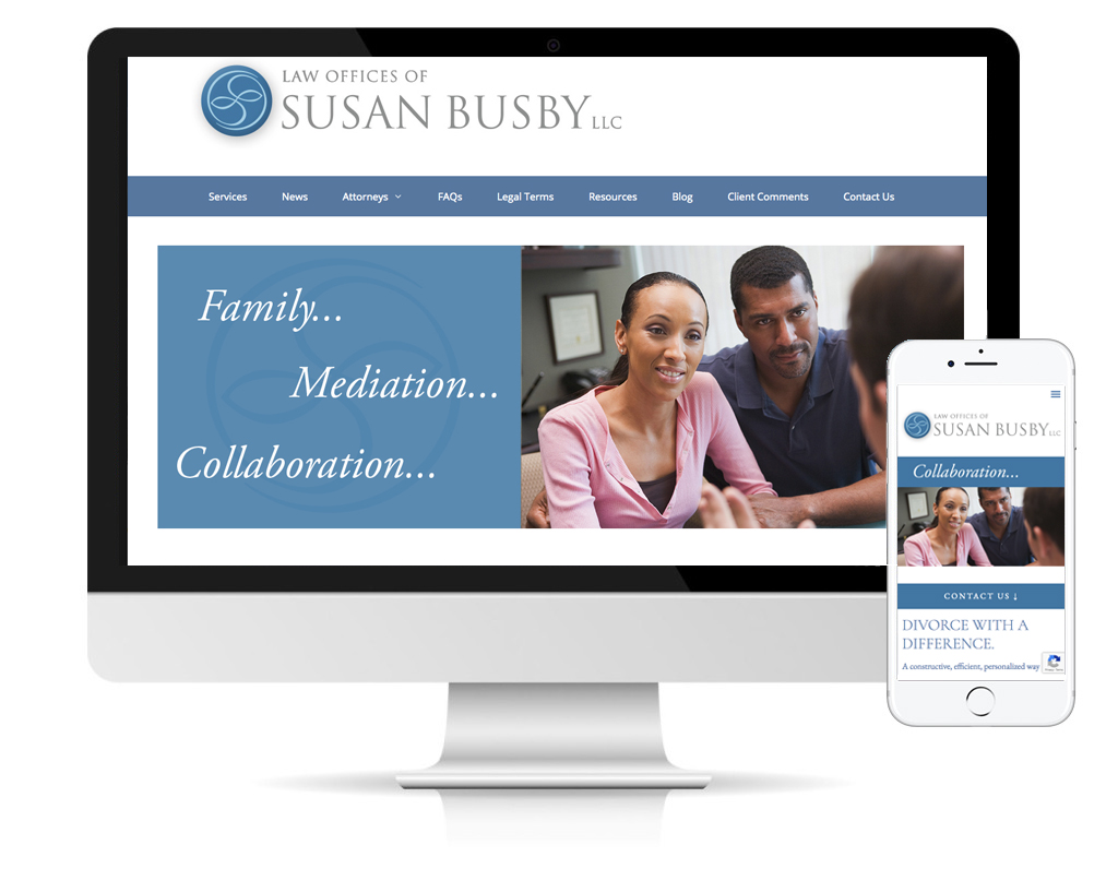 Law Offices of Susan Busby, website designed by DLS Design