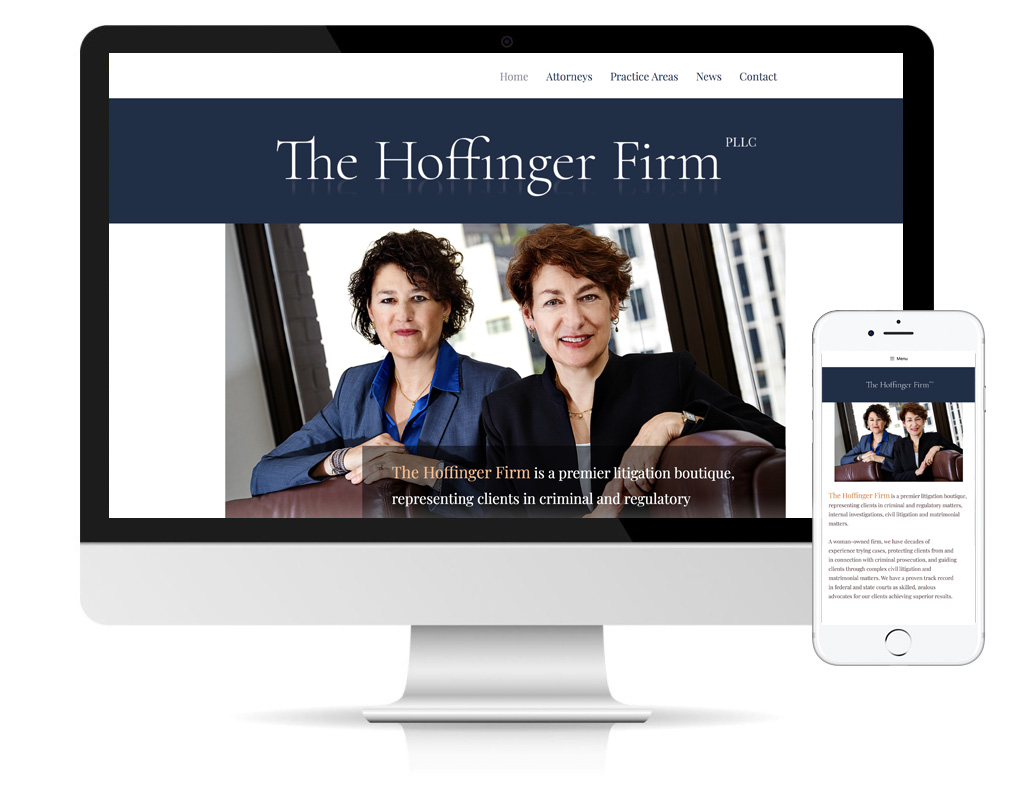 The Hoffinger Firm website designed by DLS Design